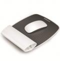 范罗士(Fellowes) CRC93148 I-Spire系列人体工学 苹果 护腕式抗菌鼠标垫 (纯净白)
